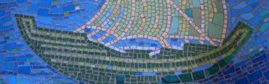 Mosaikkunst Ursula Huth Bodemosaik in Frauenau