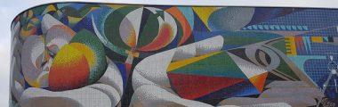 Josep Renau Wandmosaik Erfurt